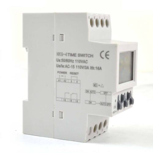 Programmable Digital Timer Switch 110V AC 16A Automatic Bell Control Instrument