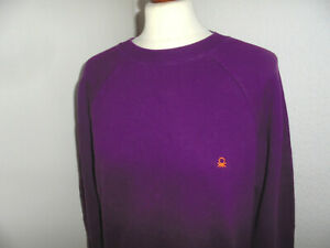 lila-vintage-italy-UNITED-COLORS-OF-BENETTON-sweatshirt-pullover-jumper-80s-Gr-S