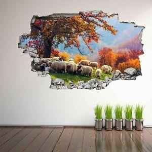 Dettagli su OVINI Piante Alberi Autunno Paesaggio Adesivi Murali Murale  Decalcomania Bambini Camera EA17- mostra il titolo originale