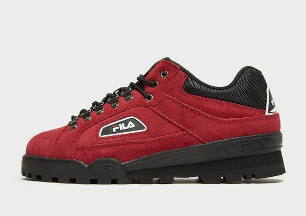 204531d6b990e FILA Trailblazer Red Suede & Black Classic Hiking Shoes (uk 10) BNIBWT