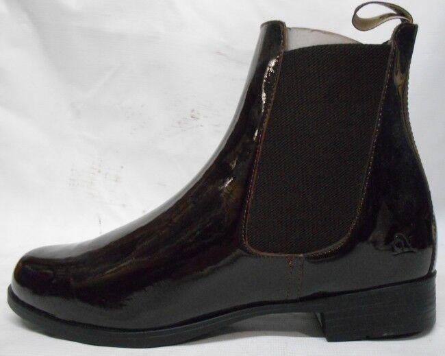 NEW Ovation Ladies Finalist Elastic  Side Patent Jod - SZ 8 Brown  get the latest