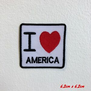 I-Love-Amerique-Badge-Brode-Repasser-Patch-a-Coudre-1848-Amerique