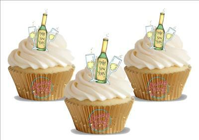 Champagne Celebration Personalised Icing Cake Topper party decoration Birthday