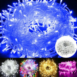 Mains Plug in String Lights LED Fairy Party Garden Lights Outdoor Christmas Tree