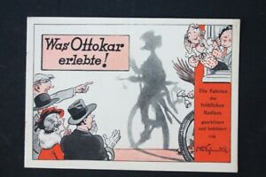 Age Print Advertising Continental Balloon Tyre Ottokar Comic Old Vintage