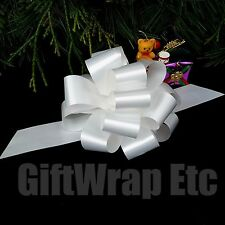 10 White Pull Bows Gift Wrap Balloon Wedding Bouquet Christmas Party Decorations