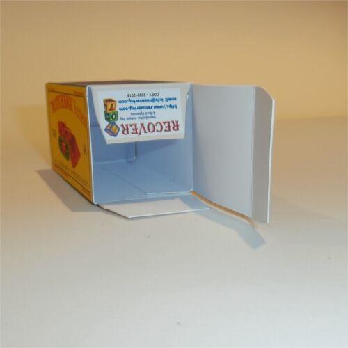 MATCHBOX LESNEY 58 B Drott pelle vide repro D style Box