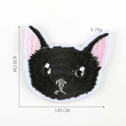 DIY Embroidered Cute Cat Sew Iron On Badge Patches Clothing Fabric Applique