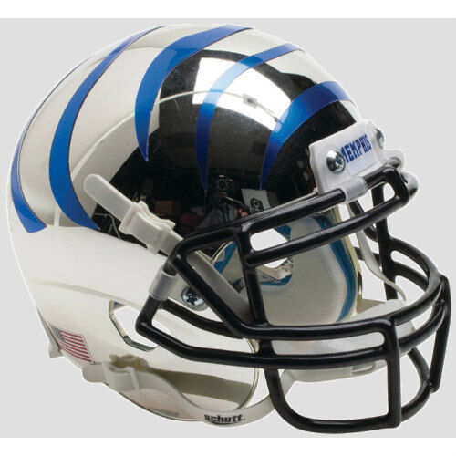 Chrome//Blue Stripes MEMPHIS TIGERS Schutt XP Mini Helmet