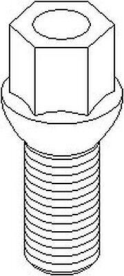 14x1.5x27mm per Seat Toledo Ruville Ruota Bullone