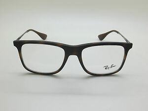 NEW Authentic Ray Ban RB 7054 5365 Matte Tortoise 51mm RX Eyeglasses ... ff2615722