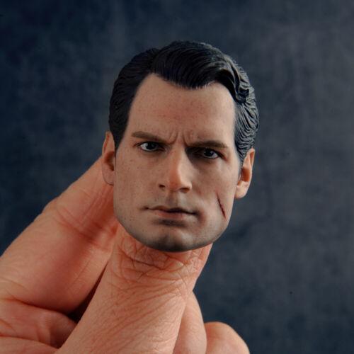 "1//6 Superman Injured Ver Head Sculpt Head Carved Model Fit 12/"" Male Figure Body"