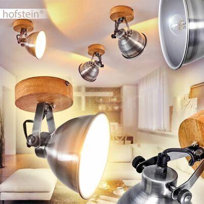Decken Strahler Wand Wohn Küchen Leuchte Lampe Retro Vintage Industrie Holz 1er