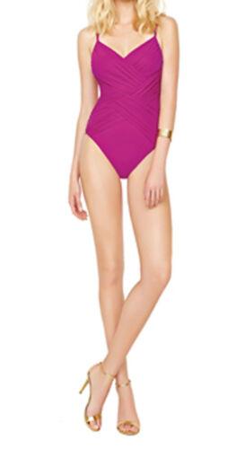 Gottex Magenta Swimsuit Lattice Contour Bnwt FBFT4n