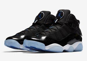 5fc9b63e59fc9f Nike Air Jordan 6 Rings SPACEJAM 11 BLACK WHITE PATENT LEATHER ...