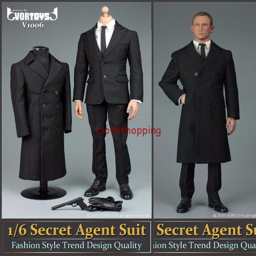 007 AGENT Bond 1 6 costume noir  veste pardessus VêteHommests Set Fit 12  Figure modèle  jusqu'à 70% de réduction