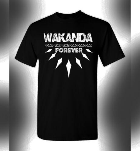 Black Panther T-Shirt Wakanda Forever King T/'Challa Avengers