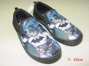 NWT-NWOT-Men-039-s-Novelty-Casual-Canvas-Slip-On-Shoes-Batman-Black-Graphics-Hero