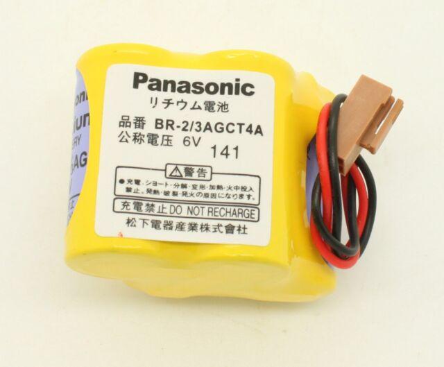10 x Panasonic BR-2/3AGCT4A PLC Battery 6V 2400mah Wire For Fanuc PLC