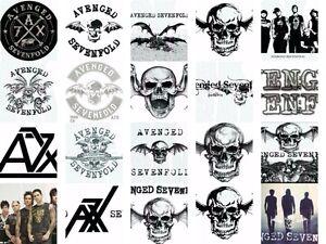 Image Is Loading Avenged Sevenfold Iron On Diy T Shirt Transfer