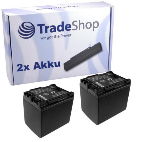 Batería 2x para canon LEGRIA fs-19 fs-20 fs-21 chip