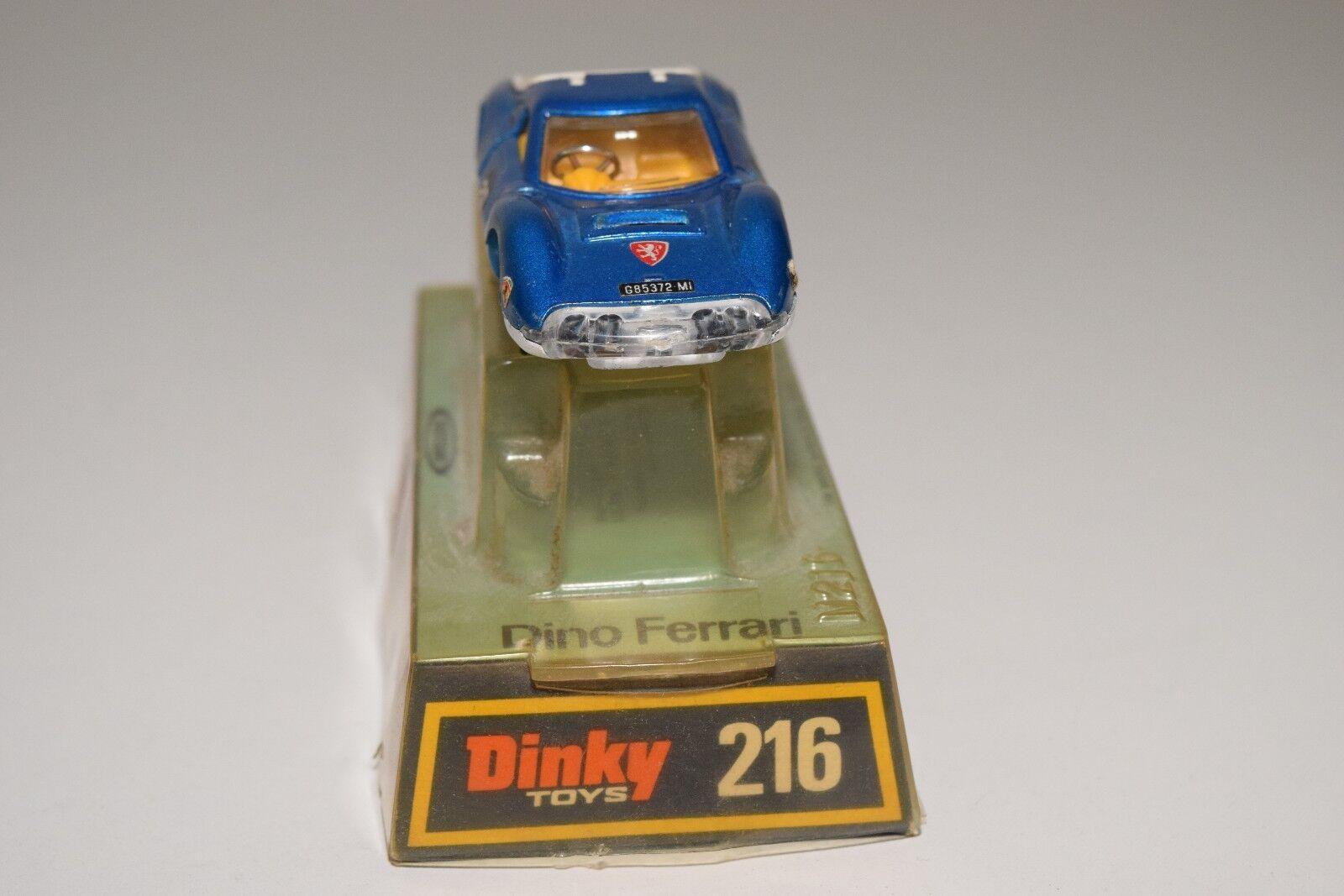 DINKY TOYS 216 FERRARI DINO METALLIC blueE NEAR NEAR NEAR MINT BOXED RARE SELTEN RARO baa1f1