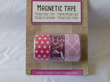 3x Magnetic Tape   Scrapbooking  2cm x 60 cm   Punkte - Pfeile  -Neu
