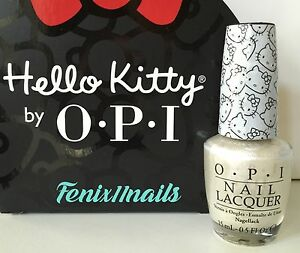 Image Is Loading Opi Hello Kitty Nl H80 White Pearl
