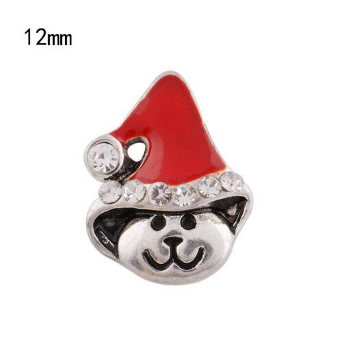 Click Button Mini Petite Weihnachten 6235 kompatibel  mit Chunk-Systeme 12mm