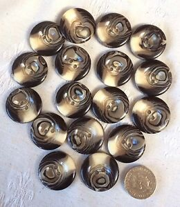 Vintage  Lot Of 17 Plastic Buttons Browncream Swirl  Tone 26mm - <span itemprop=availableAtOrFrom>Newark, Nottinghamshire, United Kingdom</span> - Vintage  Lot Of 17 Plastic Buttons Browncream Swirl  Tone 26mm - Newark, Nottinghamshire, United Kingdom