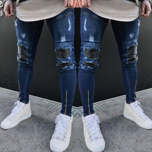skinny Jeans de d motard stretch faEqHxaw