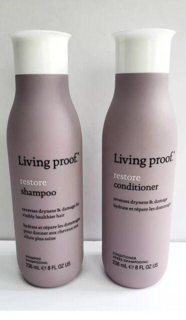 Living Proof - RESTORE - Shampoo AND Conditioner - 8 oz - 2 Pc Set - New / Fresh