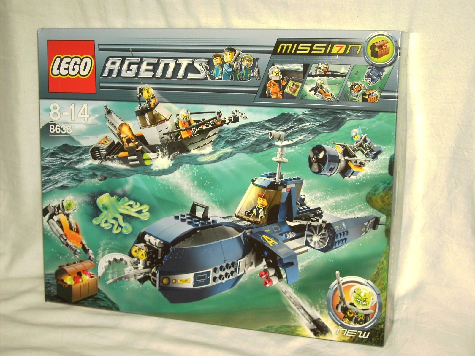 LEGO AGENTS 8636 MISSION 7 - DEEP SEA QUEST      NEW AND SEALED
