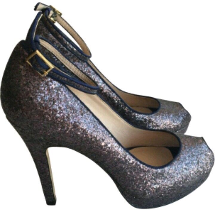 Designer REISS heels glitter peeptoe heels REISS Größe 37 UK4 --BRAND NEW-- wedding party c4ecba