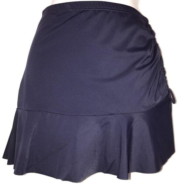 plus sz XXS 12 TS TAKING SHAPE Navy Swimwear Tahiti Ruffle Swim Skirt  NWT!