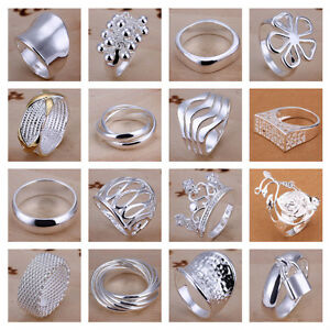 UK-925-SILVER-PLT-P-1-2-8-BAND-RINGS-MENS-LADIES-STATEMENT-THUMB-WOMENS-GIFT