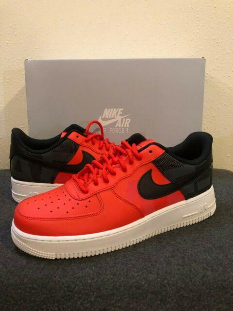 Nike Air Force 1 '07 LV8 Mens AV8363 600 Habanero Red Black Shoes Size 10