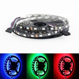 PCB-Black-16-4FT-5050-RGB-LED-Strip-5M-300-SMD-Flex-Light-Non-Waterproof-12V-DC
