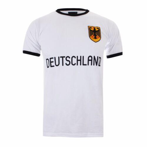 XXL-Vendita-devono andare L M XL Da Uomo Retro Calcio Germania Ringer Maglietta a S