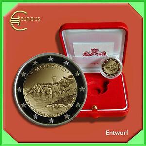 2-Euro-Gedenkmuenze-Coins-Monaco-2015-034-Bau-des-Schlosses-034-PP-polierte-Platte