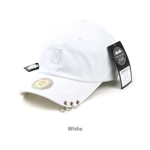 Unisex Men Women Plain Piercing Ring Long Strap Casual Trucker Baseball Cap Hats