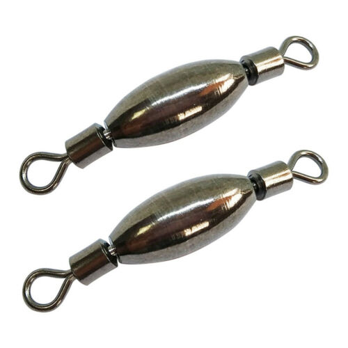 50PCS Copper Sinker Fishing Swivels Rolling Lead Counterweight Fishing Tackle