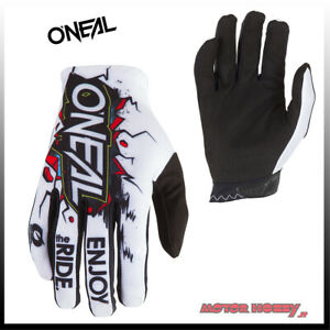 GUANTO-GLOVE-CROSS-ENDURO-QUAD-O-039-NEAL-ONEAL-MATRIX-VILLAIN-BIANCO-TAGLIA-M-8-5