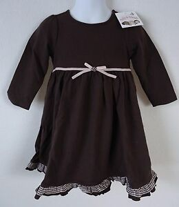 a58cb22ad Baby Girls 24 Months Dress Polly   Friends Brown Pink Long Sleeve ...