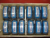 Officemax original Pre-inked Re-inkable Stamp Blue 1 X 1/2 Bulk 12/pack