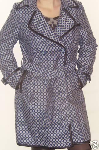 NWT grönIGO PARIS blå vit Dress Rain Coat XL 14