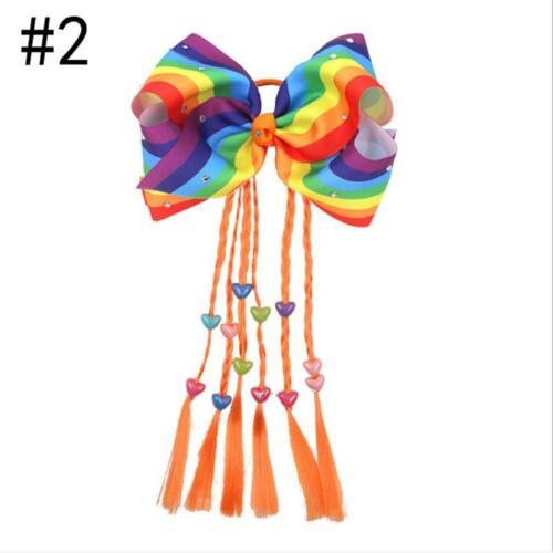 Beautiful Large Ribbon Bow Hair Band Wig Multi Colours Girls LA