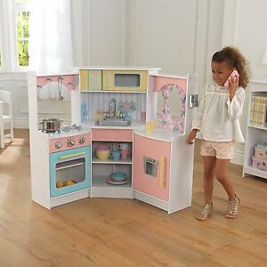 Charmant Image Is Loading KidKraft 53368 Deluxe Corner Play Kitchen Preschool Amp