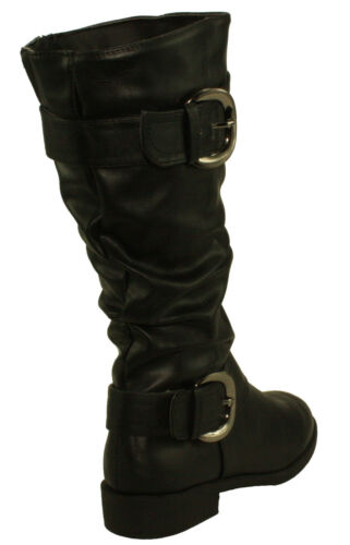 Forever Women/'s Elva-29 Round-toe Low Heel Slouchy Shaft Mid-calf Boots