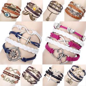 Damen-Herren-Vintage-Armband-Bracelet-Surferarmband-Kette-Trendy-Geschenk-WOW